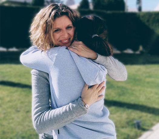 Diana Al Azem con su hija